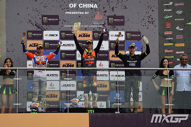 MX2 PODIUM MOTOCROSS GP 18 CHN 2019